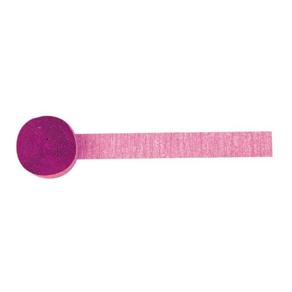 Bright Pink Crepe Paper Streamer